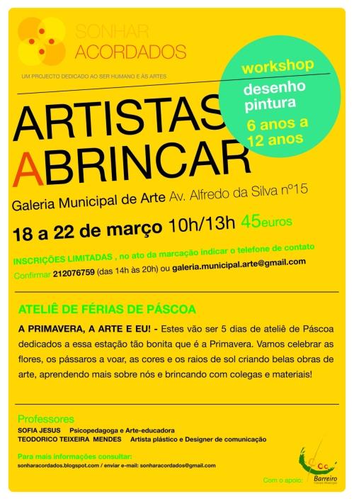 INTERNET cartaz páscoa Artistas a Brincar