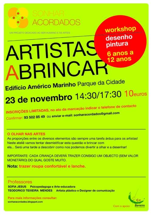 INTERNET cartaz 23 nov ARTISTAS A BRINCAR