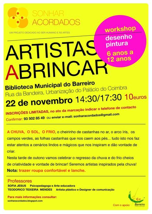 INTERNET  ARTISTAS A BRINCAR  22 novembro 2014