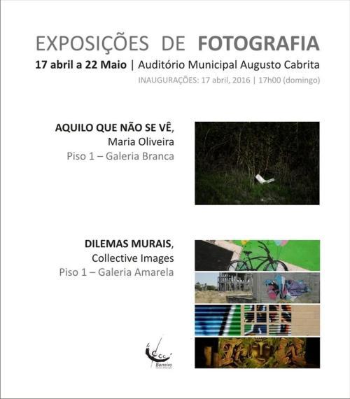 Dilemas murais e Maria Oliveira- convite
